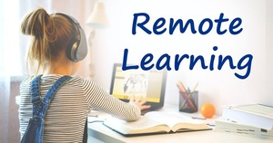 In-person learning versus remote learning at Boulevard Elementary School.