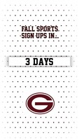 Fall Sports sign ups in 3 days!