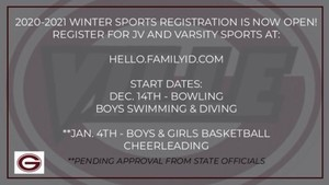 Winter Sports Registration is now open!