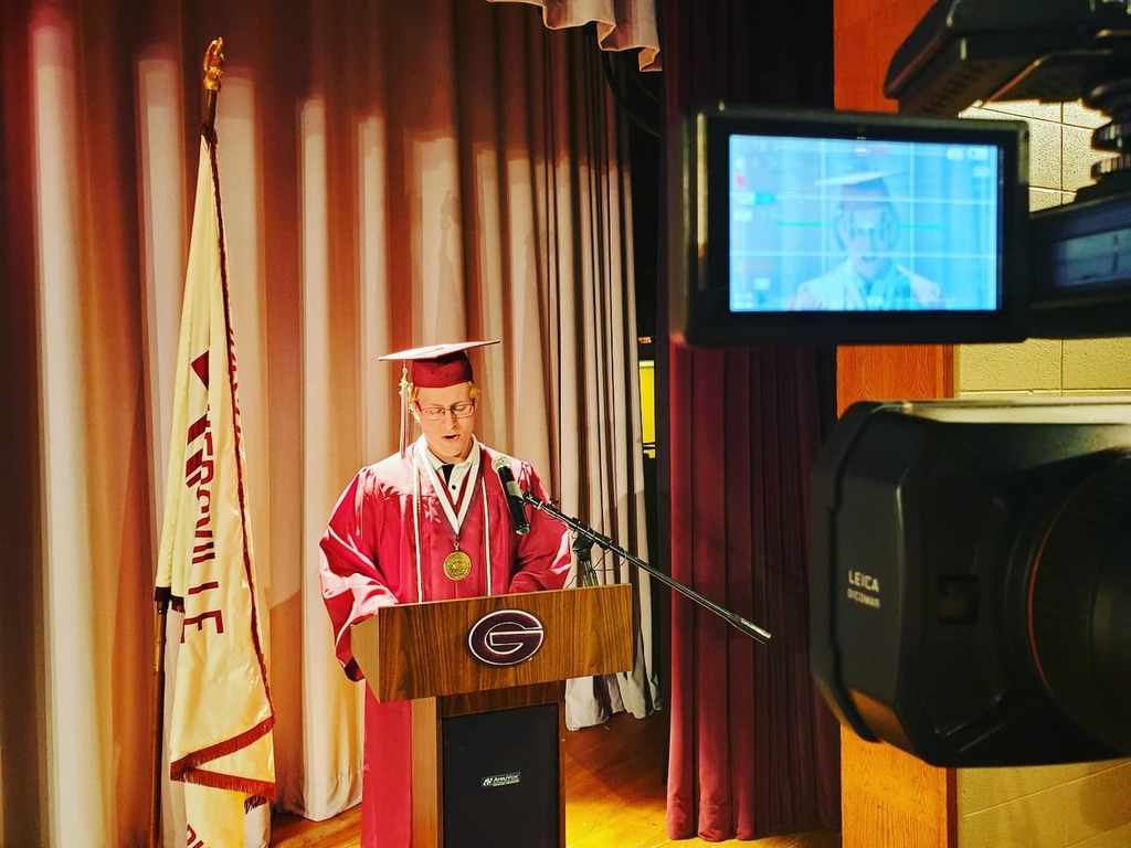 Recording the GHS Class of 2020 Valedictorian's Speech Mr. Samuel Getman.